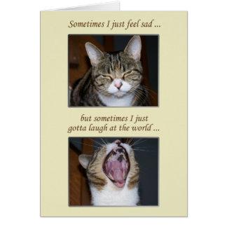 Estímulo para una enfermedad, gato lindo tarjeta