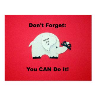 Estímulo: ¡Usted puede hacerlo! Postal
