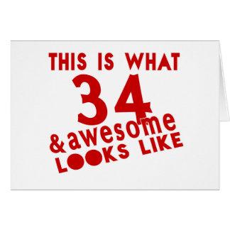 Esto es de lo que tienen gusto 34 y la mirada tarjeta de felicitación