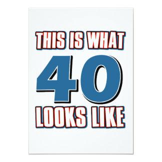 Esto es de lo que tienen gusto 40 años de miradas invitación 12,7 x 17,8 cm