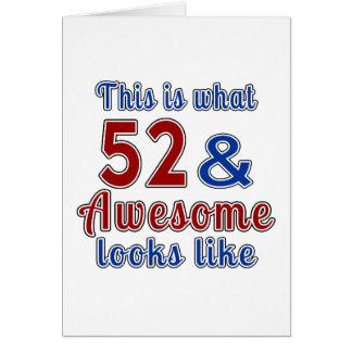 Esto es de lo que tienen gusto 52 y la mirada tarjeta de felicitación