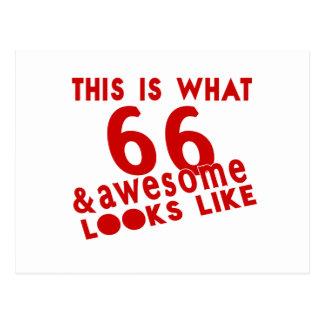 Esto es de lo que tienen gusto 66 y la mirada postal