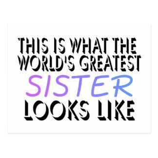 Esto es lo que la hermana más grande del mundo (2) postal