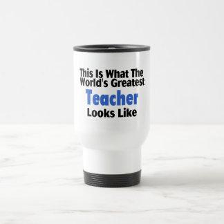 Esto es lo que mira el profesor más grande del taza de viaje