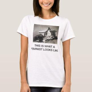 Esto es lo que parece una feminista la camisa de
