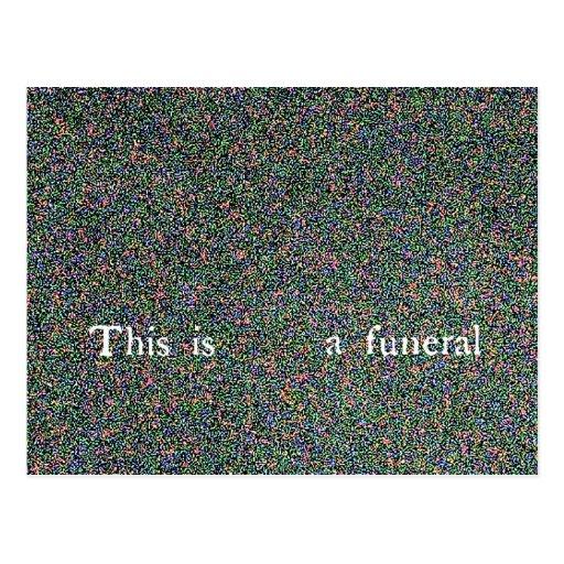 esto es un entierro tarjetas postales