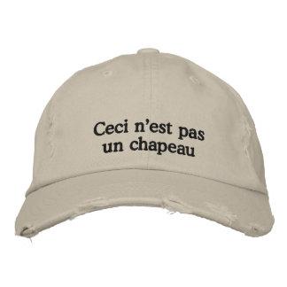 Esto no es un gorra gorra de beisbol bordada