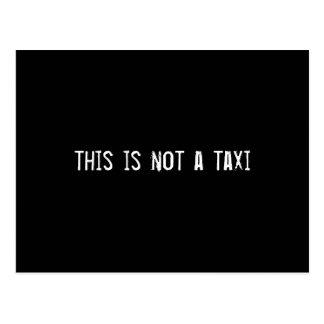 esto no es un taxi postal