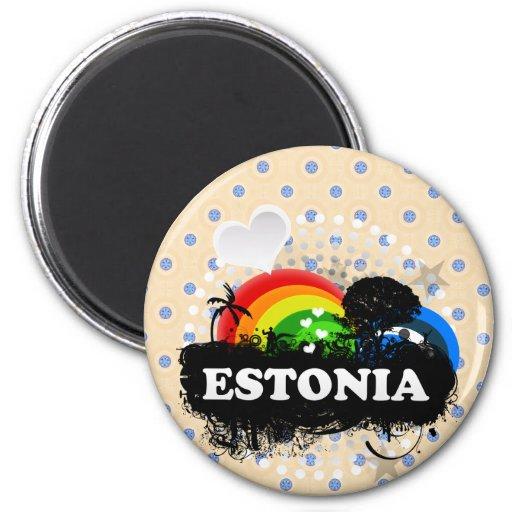 Estonia con sabor a fruta linda imán para frigorífico