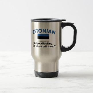 Estonio apuesto taza de viaje