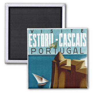 Estoril - Cascais Portugal Imán Cuadrado