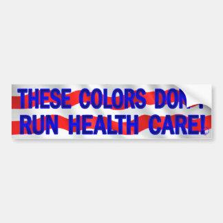 Estos colores no corren atención sanitaria (consíg pegatina para coche