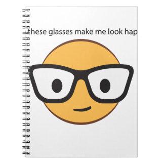 ¿Estos vidrios hacen que parece feliz? (yep!) Cuaderno