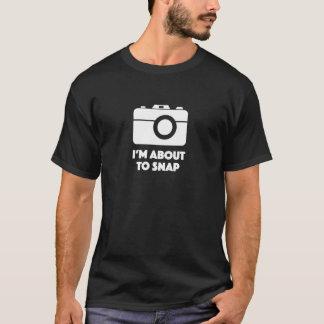 ¡Estoy a punto de tirar! camisa del fotógrafo