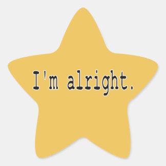 Estoy bien pegatina en forma de estrella