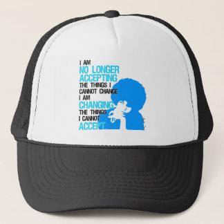 Estoy cambiando el gorra del camionero de las