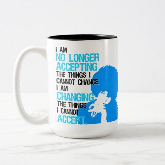 Estoy cambiando la taza grande de las cosas