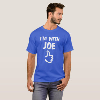 Estoy con la camisa de Joe - azul real