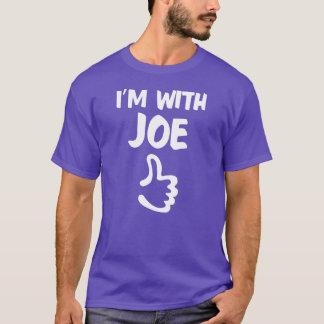 Estoy con la camisa de Joe - púrpura