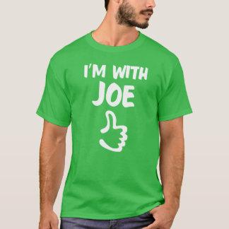 Estoy con la camisa de Joe - verde del trébol