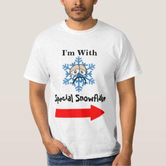 Estoy con la camiseta gráfica del copo de nieve