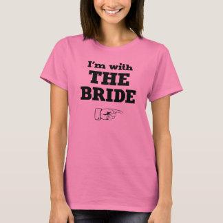 Estoy con la novia camiseta