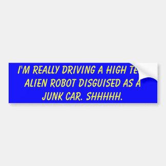Estoy conduciendo realmente un disg extranjero de  pegatina para coche
