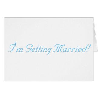 Estoy consiguiendo casado tarjetas
