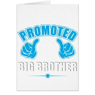 Estoy consiguiendo promoví a hermano mayor tarjeta de felicitación