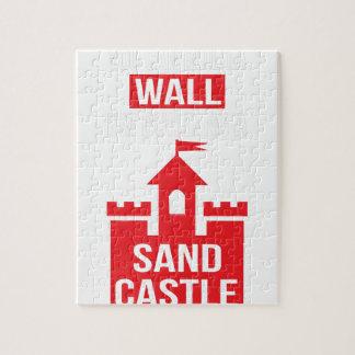 Estoy construyendo un castillo de la arena - puzzle