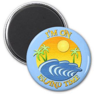 Estoy el tiempo de la isla imán redondo 5 cm