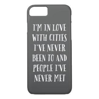Estoy en amor con las ciudades funda iPhone 7