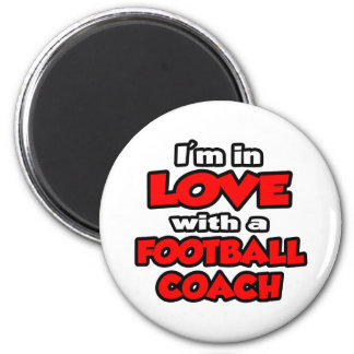 Estoy en amor con un entrenador de fútbol iman de frigorífico