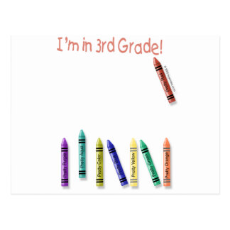 ¡Estoy en el 3ro grado! Postal