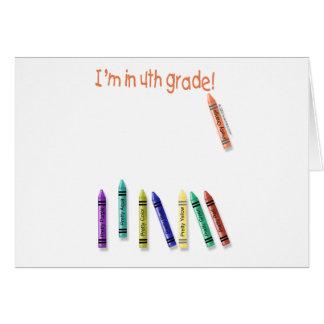 ¡Estoy en el 4to grado! Tarjeta De Felicitación