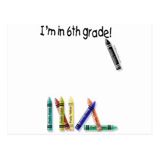 ¡Estoy en el 6to grado! Postal