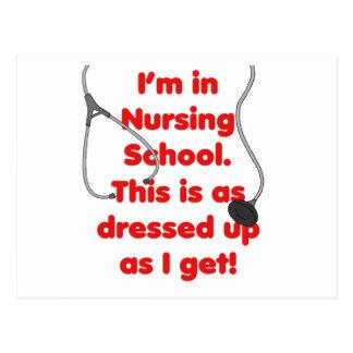Estoy en la escuela de enfermería - vestida para a postales