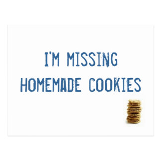 ¡Estoy faltando las galletas hechas en casa! Postal