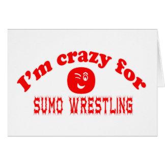 Estoy loco para la lucha de sumo tarjetón
