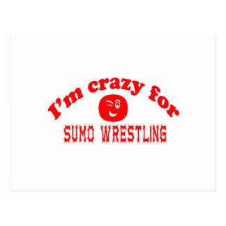Estoy loco para la lucha de sumo postales