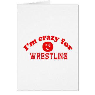 Estoy loco para luchar tarjetas