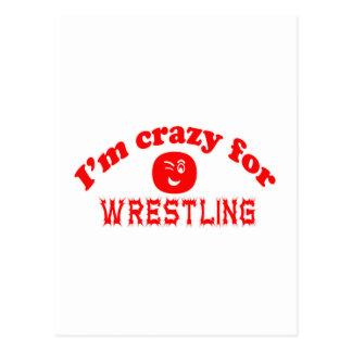 Estoy loco para luchar tarjeta postal