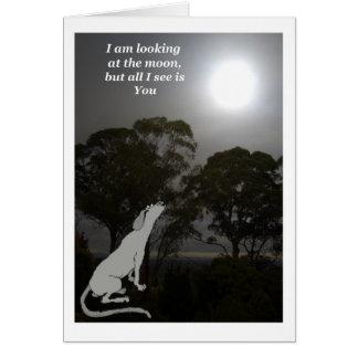 Estoy mirando la luna tarjeta de felicitación