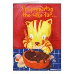¡Estoy preparando la torta para… su cumpleaños! Tarjeta