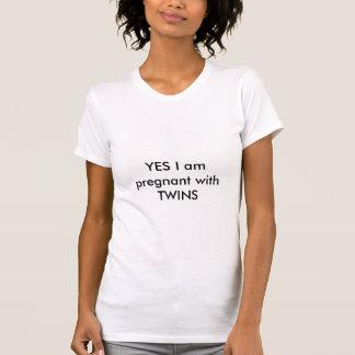 Estoy SÍ embarazada con los GEMELOS Camiseta