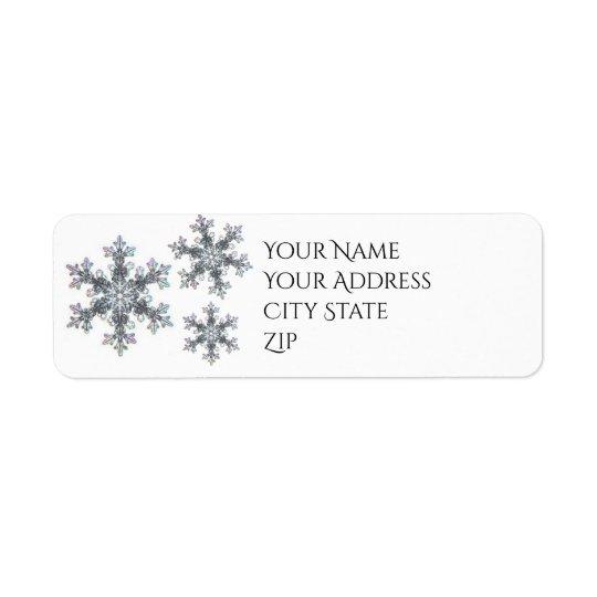Estoy soñando con el navidad blanco - escama de la etiqueta de remite