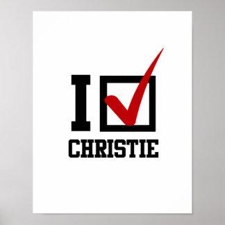 ESTOY VOTANDO POR CHRISTIE POSTER