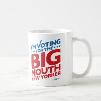 Estoy votando por el neoyorquino GRANDE de la BOCA Taza De Café
