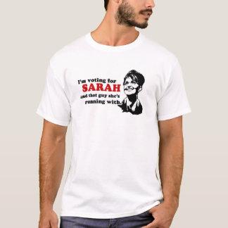 Estoy votando por Sarah y esa camiseta del