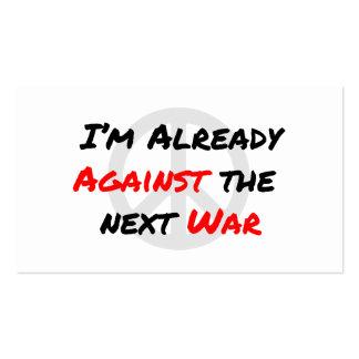 Estoy ya contra guerra tarjetas de visita